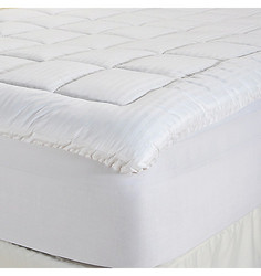 "Cozelle 260TC Cotton Nano-Tex 1.5"" Gusseted Mattress Topper - White - Full"