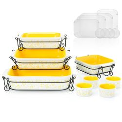Cook S Companion 20 Piece Ceramic Oven To Table Bake Serve Set Yellow Check Back Soon