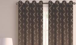 110''x84'' Printed Blackout Grommet Window Panel Pair Sage