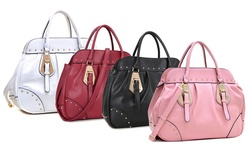 Dasein Luxury Large Satchel Handbag: Black