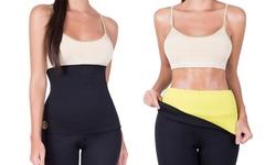 Women's Hot Shapers Sport Waist Slimming Belt - Black-Sz: Small-Medium