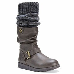 Flattering Sky Boots With Belt Wrap For Women: Dark Brown/size 11