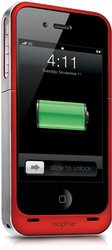 mophie iPhone: Battery Pack Air Case-4/4S/Red