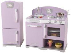 KidKraft 53290 Retro Kitchen & Refrigerator - Lavender