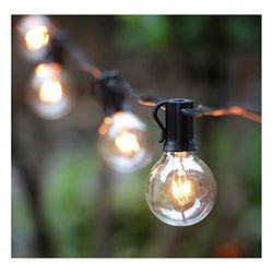 Brightown Indoor/Outdoor Globe String Lights with Bulbs - 100Ft