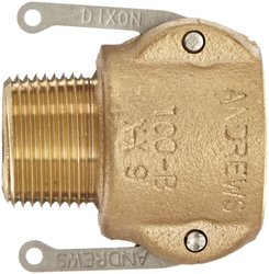 "Dixon Brass Type B Cam and Groove Hose Fitting - 1"" Socket x 1"" NPT Male"