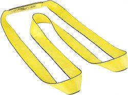 Mazzella EN1-902 Edgeguard Nylon Web Sling - Yellow - Size: 8' Length