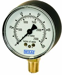 Wika Capsule Low Pressure Gauge Dry Filled Alloy Wetted Parts - Copper