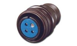 Amphenol Circular Connector Pin Threaded Coupling Solder Plug 26 Contacts