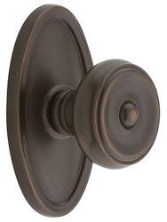 Emtek Oval Rosette Set with Waverly Knob - Double Dummy Oil Rubbed Bronze
