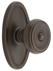 Emtek Oval Rosette Set with Waverly Knob - Oil Rubbed Bronze Privacy