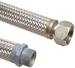 "Unisource SF21 Steel Liquid Transfer Hose Assembly 1/2"" ID 30"" Length"