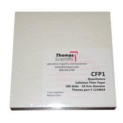 Thomas Cellulose Qualitative Filter Paper Pack of 100 - 15cm Diameter
