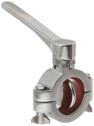Dixon Stainless Steel 316L Clamp Butterfly Valve with Silicone Seal