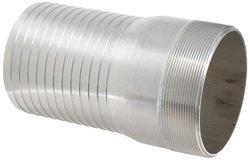"Dixon AST60 Aluminum Hose Fitting - 6"" NPT Male x 6"" Hose ID Barbed"