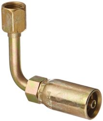 Eaton Coll O Crimp 33604E-645 Female Swivel Long Drop Tube Elbow Fitting
