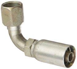 Eaton Coll O Crimp 33608E-670 90 Degree Female Swivel Tube Elbow Fitting