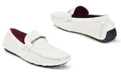 Franco Vanucci Men's Driver Shoes (223-1): White - 8