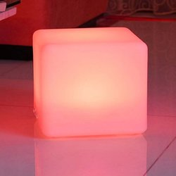 "Mr. Light 16"" Rechargeable LED Cube w/Color Change Remote"