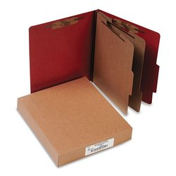 Acco Pressboard Classification Folders - Earth Red (A7015036)