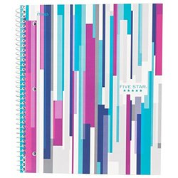 Five Star Style Spiral Notebook,  1 Subject, College Ruled, 11 in.x 8.5 in., Teal (73127)
