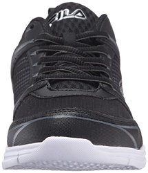 5cf208bc3ba2 ... Fila Men s Windstar 2 Running Shoe - Black Black Metallic Silver -  Size  ...