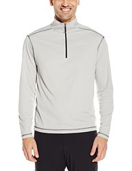 White Sierra Men's Techno Long-Sleeve 1/4 Zip T-Shirt - Ash - Size: Medium