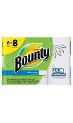 Bounty Select-A-Size White Paper Towels - 6 Big Rolls