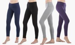 Sociology Women's Foldover Waist Leggings - Assorted - Size: L/XL