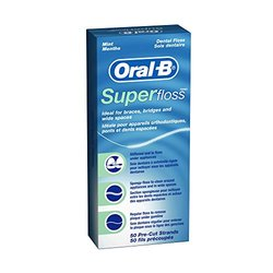Oral-B Super Floss Pre-Cut Strands - Mint - 50 CT