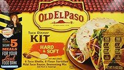 Old El Paso Hard & Soft Taco Dinner Kit - 114Oz