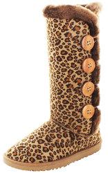 Moda Essentials Women's Winter Boots: Tall Button-leopard/8