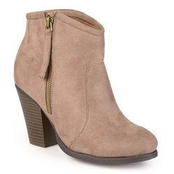 Journee Collection Link Women's Ankle Boots - Taupe - Size: M
