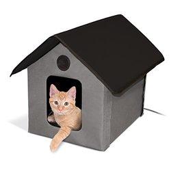 K&h Outdoor Heated Kitty House: Gray-black