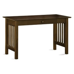 Atlantic Furniture Mission Desk with Drawer - Walnut