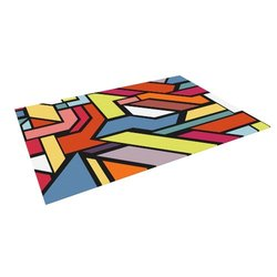"Kess InHouse Danny Ivan ""Abstract Shapes"" Outdoor Floor Mat/Rug, 5 by 7-Feet"