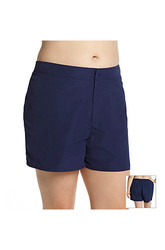 South Point Women's Shaka Swim Shorts - Black - Plus-Size