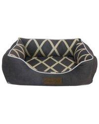 "Comfy Pooch Meggie Pet Bed Color: Gray, Size: Small (20"" L x 16"" W)"