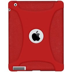 Amzer Soft Silicone Skin Fit Jelly Case Cover for Apple iPad 4 with Retina Display - Tomato Red (AMZ95717)