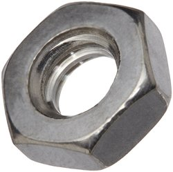 "SP 1/4""-28 Thread x 7/16"" W x 5/32"" Thick Stainless Hex Jam Nut - 100 Pack"