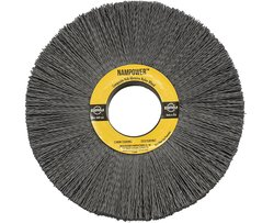 "BR CW812022120SC 2.5"" Bristle L Nampower Hub Abrasive Nylon Wheel Brush"