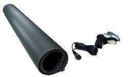 ESD 15' Ground Cord PVC Floor Runner Kit w/ Heel Grounder - Gray