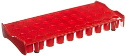 Globe Scientific 3049R Polycarbonate Rack for Cryogenic Vial - Red
