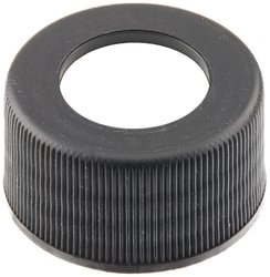 JG Finneran 34-375BLK Polypropylene Open Hole Closure - Black - Pk of 100