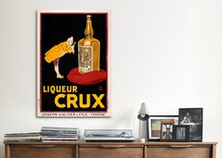 "Vintage Posters 40""x26"" Liqueur Crux Vintage Advertising Canvas Art Print"