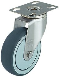 J.W. Winco Smooth Rolling Non-Marking Caster Wheel - Gray