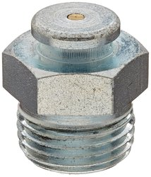 """Alemite 1/2"""" Male NPTF Straight Standard Button Head Fitting - Pack of 5"""