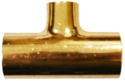 """Aviditi 91574 Copper Fitting with Reducing Tee - Size: 2""""x 1.25""""x 2"""""""