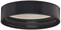 Wheaton Black Phenolic Screw Cap with White Rubber Liner - Size: 48-400