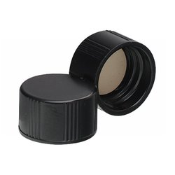 Wheaton Black Phenolic Screw Cap with Rubber Liner - Size: 13-425